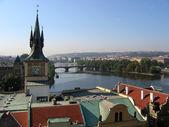 Prague's view in morning — Stock Photo