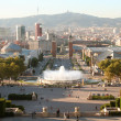 Stock Photo: Barcelonevening view from Montjuic mountain.
