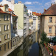 Vltava river's canal — Stock Photo