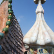 Dragon form roof fragment of Casa Batllo by Antoni Gaudi. — Stock Photo