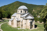 The church in the orthodox monastery Gradac in Serbia — Stock Photo