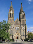 The St. Ludmila Church in Prague. — Stock Photo