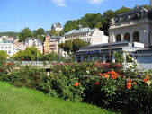 Karlovy Vary's view, Czechia — Stock Photo