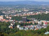 Bird's eye view of Karlovy Vary. — Stock Photo