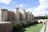 The Aljaferia palace in Zaragoza. 11th century Islamic. — Foto de Stock