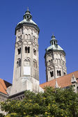 The two towers of cathedral in Naumburg city, Saxony-Anhalt, Germany — Stock Photo