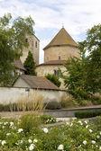 View at Ottmarsheim abbey church in France — Stock Photo