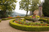 A scenic view in Mont Sainte-Odile abbey in France — Stock Photo