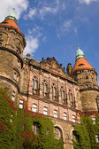 The western facade of Ksiaz castle in Walbrzych city, Poland — Stock Photo