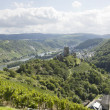 A view of Mosel river and Kobern-Gondorf in Germany — Stock Photo #34819113