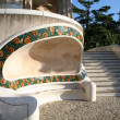 Niche-bench in Guell park in Barcelona. — Stock Photo