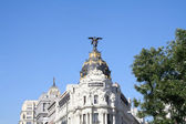 Top of the Metropolis Building in Madrid, Spain. — Foto de Stock