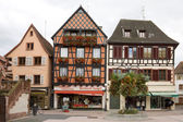 The beautiful half-timbered houses in Selestat — Stock Photo