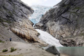 The Briksdal glacier in Norway — Foto Stock