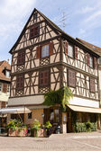Beautiful half-timbered house in Colmar city, France — Stock Photo