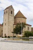 Abbey church in Ottmarsheim, France — Stock Photo