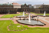 The courtyard of Zwinger in Dresden, Germany — Stock Photo