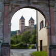 The main gate to Murbach abbey in France — Stock Photo