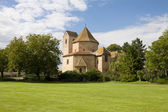 View at Ottmarsheim abbey church in France — Stock Photo