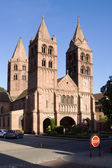 The St. Leger church in Guebwiller city, France — Stock Photo