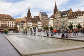 The Place Kleber in Strasbourg. Alsace, France — Stock Photo