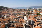 Aerial view of Split city in Croatia — Stock Photo