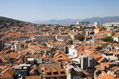 Aerial view of Split city in Croatia — Stock Photo