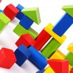Children's wooden cubes — Stock Photo #27227069