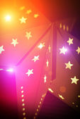 Colorful Christmas background with stars — Foto Stock