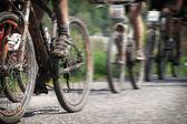Mountain bike race — Stock Photo