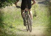 Carrera de bicicleta de montaña — Foto de Stock
