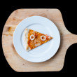 Stock Photo: Seafood PizzSlice
