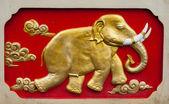 слон рельеф wal — Стоковое фото