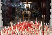 Incense burner at pillar province — Stock Photo
