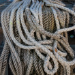 Braided ship rope — 图库照片