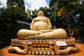Golden happy Buddha — Stock Photo