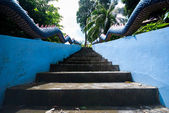Escalier naga dans temple thailand — Photo