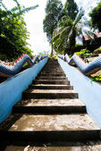 Staircase Naga In Temple Thailand — Stock Photo