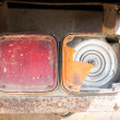 Stock Photo: Old truck taillights