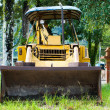 Yellow construction bulldozer — Stock Photo