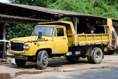 Old yellow truck — Stock Photo