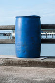 Blue plastic 200 litre — Stock Photo