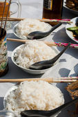 Rice for Hungry Ghost Festival — Stock Photo