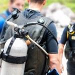 Preparing for dive — Stock Photo