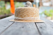 Hat on the table — Stock Photo