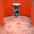 Valves of LPG cylinders red. — Stock Photo #41900621