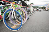 RANONG,THAILAND - DECEMBER 1 :Biking for the king,ranong thailan — Stock Photo