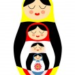 matryoshka russian doll — Stock Vector