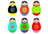 Matryoshka russian doll — Cтоковый вектор