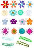 Flores retrô — Vetorial Stock
